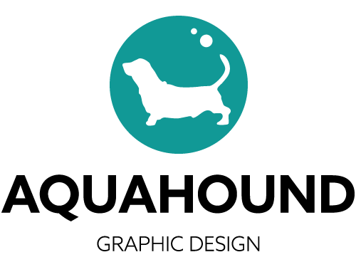 Aqua Hound Graphic Design