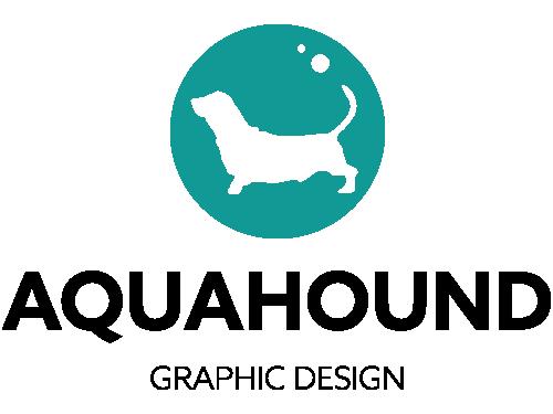 Aqua Hound Graphic Design